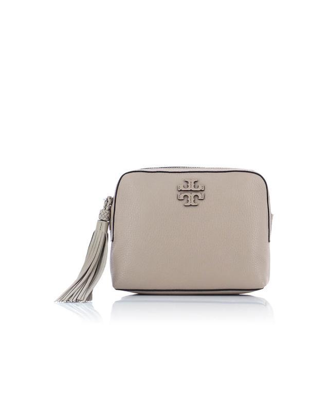 Tory burch sac à bandoulière en cuir grainé taylor beige