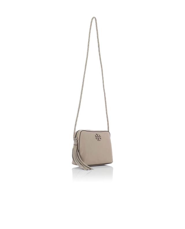 Tory burch taylor grained leather shoulder bag beige a35561