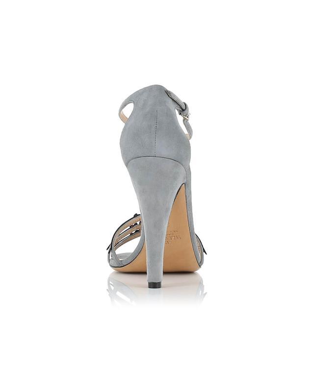 Valentino sandales en daim et cuir gris A35599-BLEUC