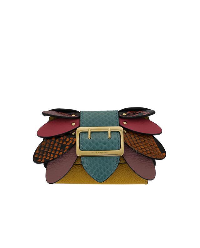 Burberry portefeuille en cuir texturé multicolore1 a35625