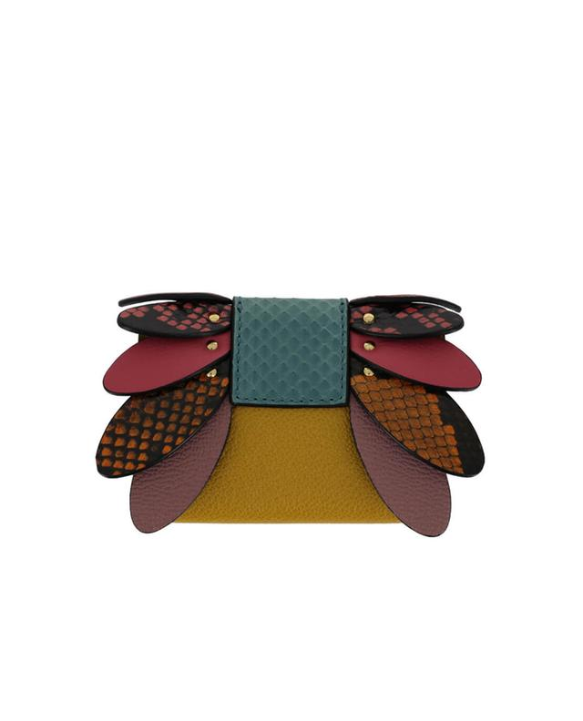 Burberry textured leather wallet multicoloured1 a35625