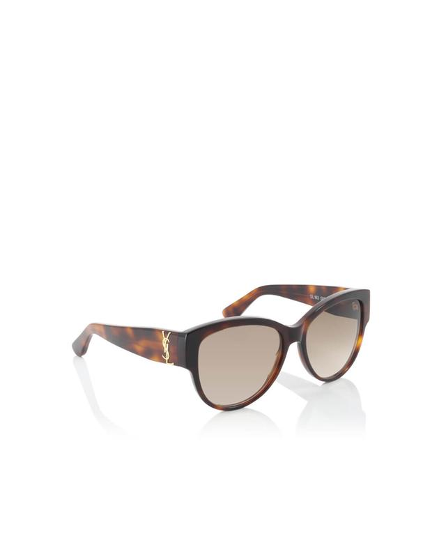 Saint laurent paris oversized sonnenbrille sl m3 braun