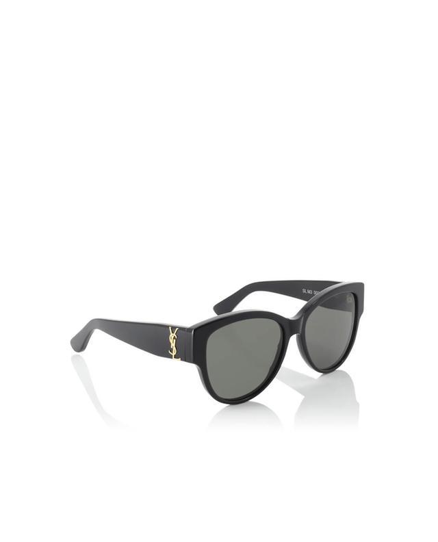 Saint laurent paris oversized sonnenbrille sl m3 schwarz