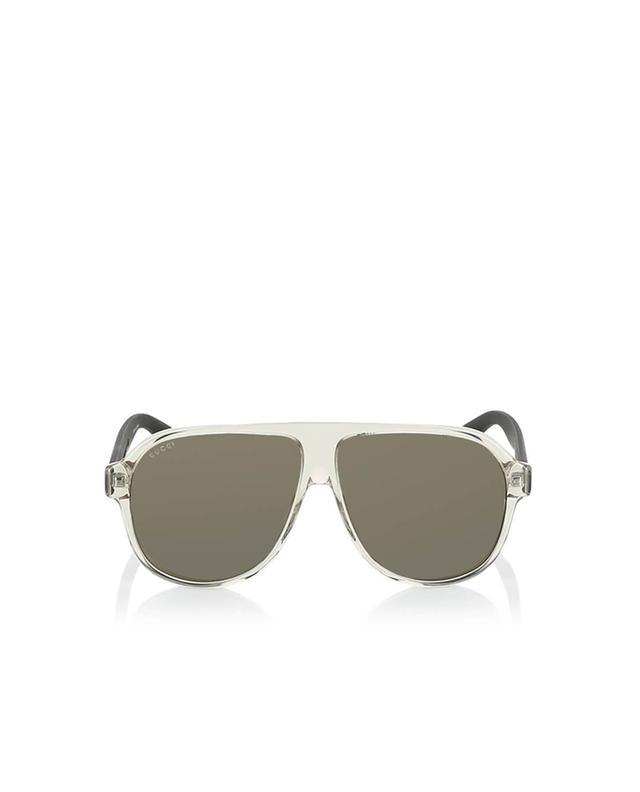 Gucci sonnenbrille im flieger-design weiss a35964
