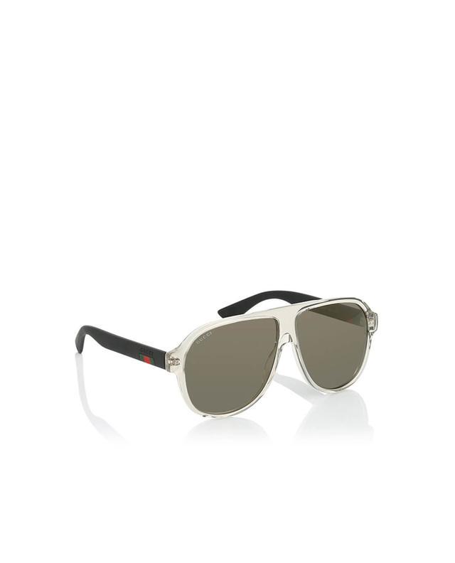 Gucci lunettes de soleil aviateur blanc a35964