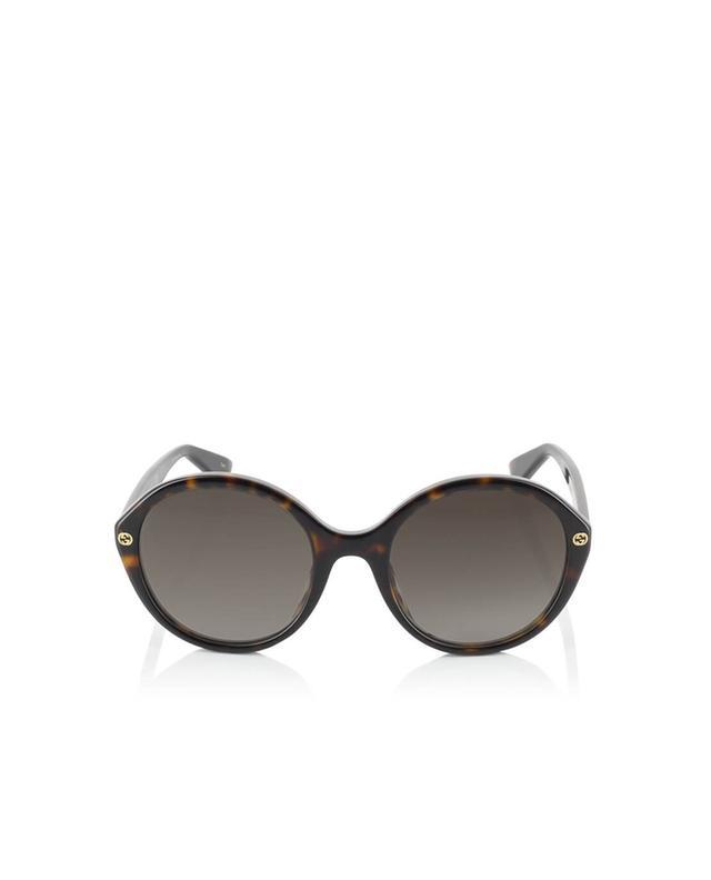 Gucci lunettes de soleil rondes en acétate marron a35966