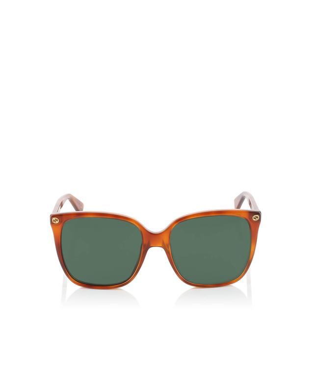 Gucci lunettes de soleil rondes camel a35967