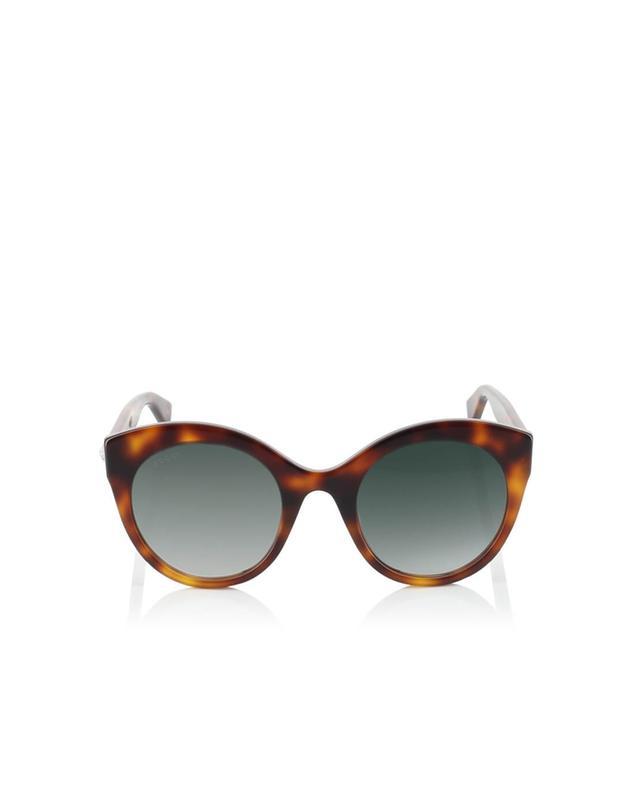 Gucci sonnenbrille in oversize-katzenaugenform aus azetat braun