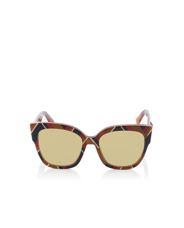 Gucci viereckige sonnenbrille aus acetat kamelfarben a35971