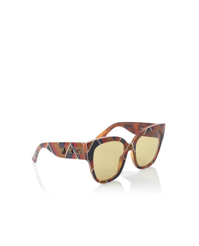 Gucci lunettes de soleil carrées en acétate camel a35971