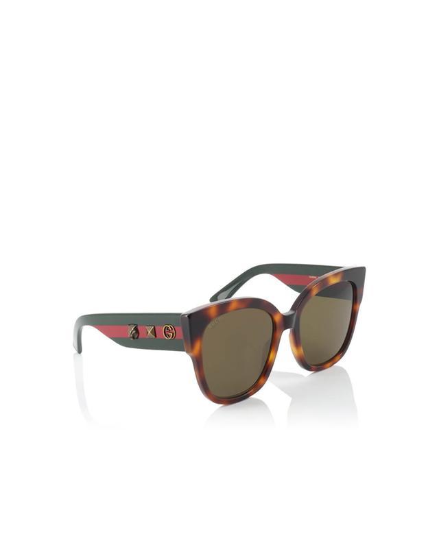 Gucci lunettes de soleil carrées en acétate marron a35971