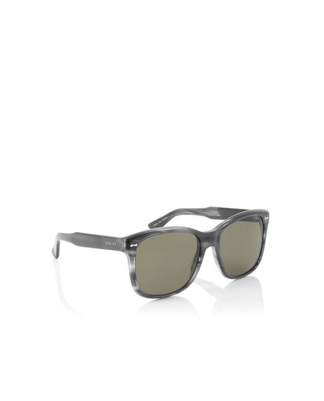 Gucci viereckige sonnenbrille anthrazit a35979