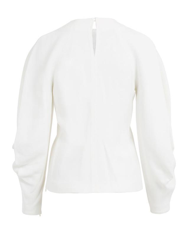 Long-sleeved textured viscose top VICTORIA BECKHAM