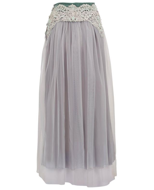 Harmonia tulle and lace maxi skirt EZGI CINAR