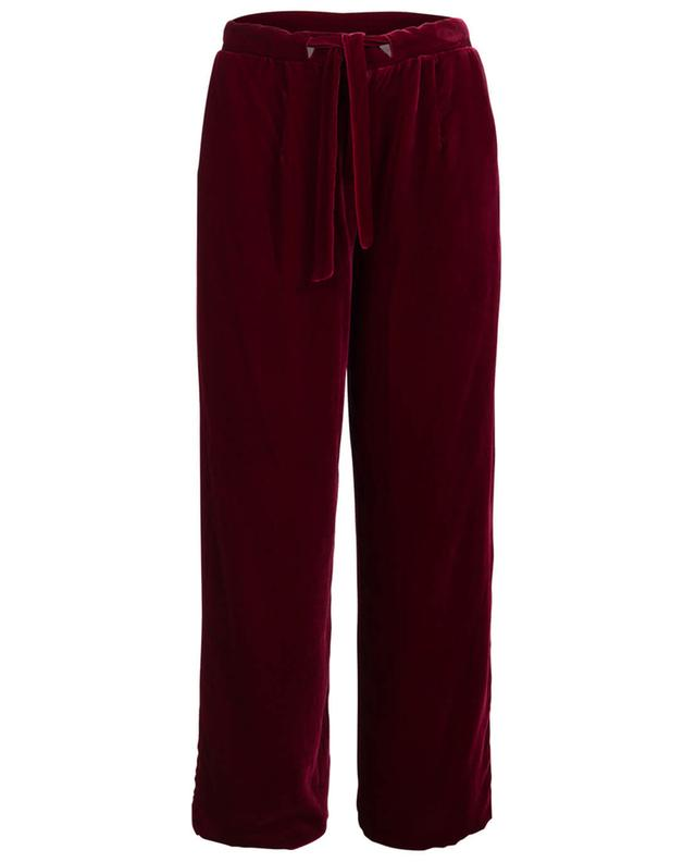 Eos velvet and silk pyjama trousers EZGI CINAR
