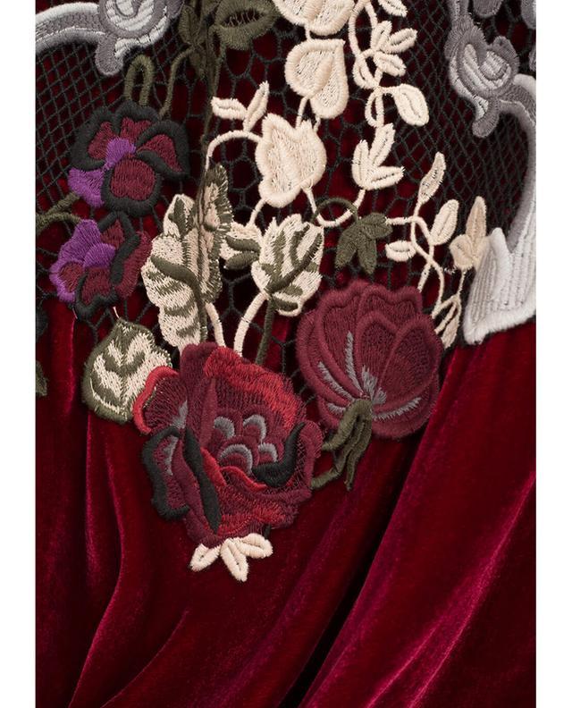 Eos embroidered velvet dress EZGI CINAR