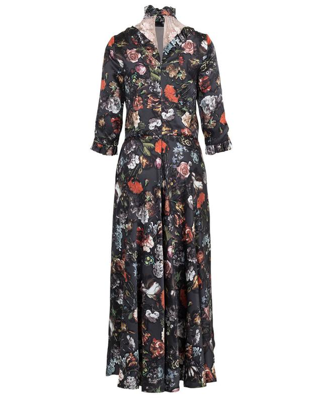 Bedrucktes, langes Kleid aus Seide Morpheus EZGI CINAR