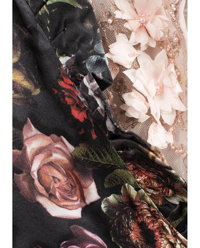 Robe longue imprimée en soie Morpheus EZGI CINAR