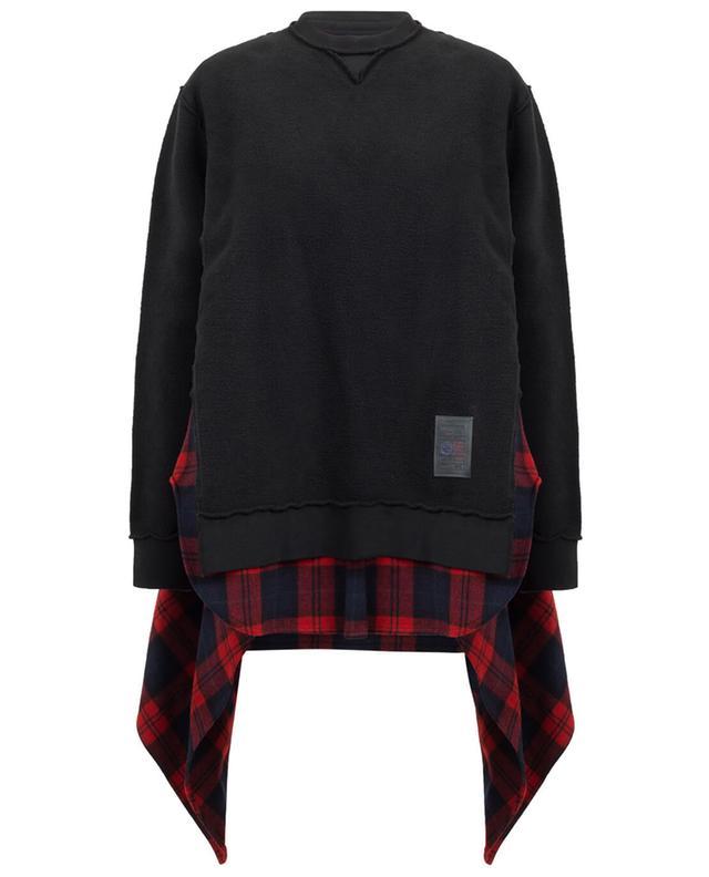 Sweatshirt détail chemise DSQUARED2