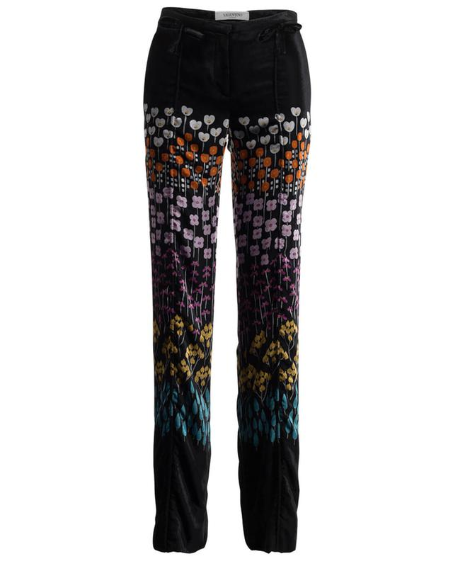 Printed velvet trousers VALENTINO