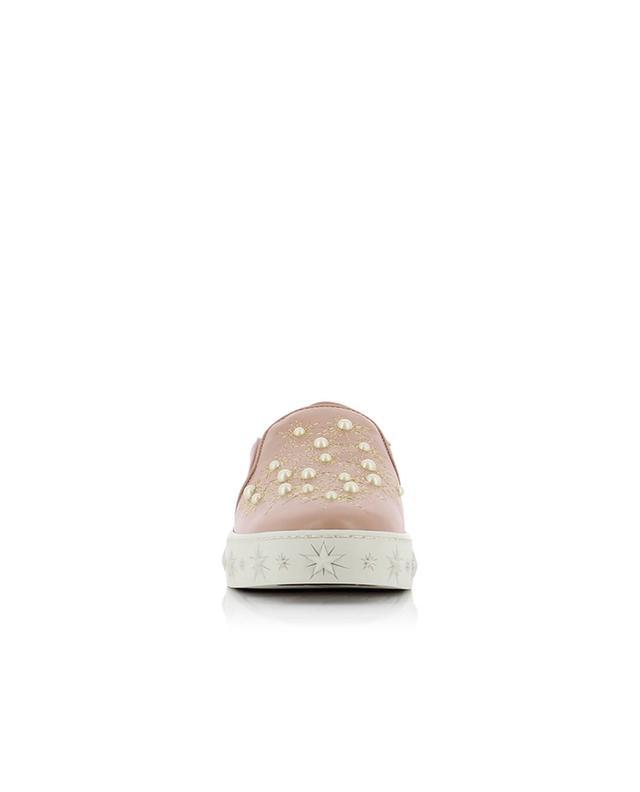 Cosmic Pearls leather slip-on sneakers AQUAZZURA
