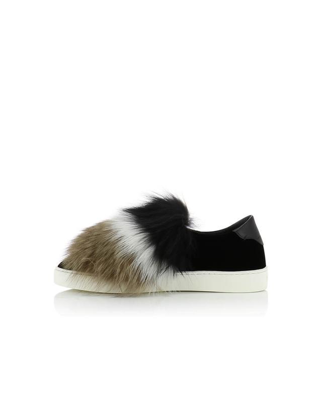 Velvet and fur sneakers SANTONI