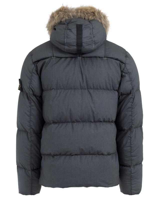 Down jacket with fur STONE ISLAND