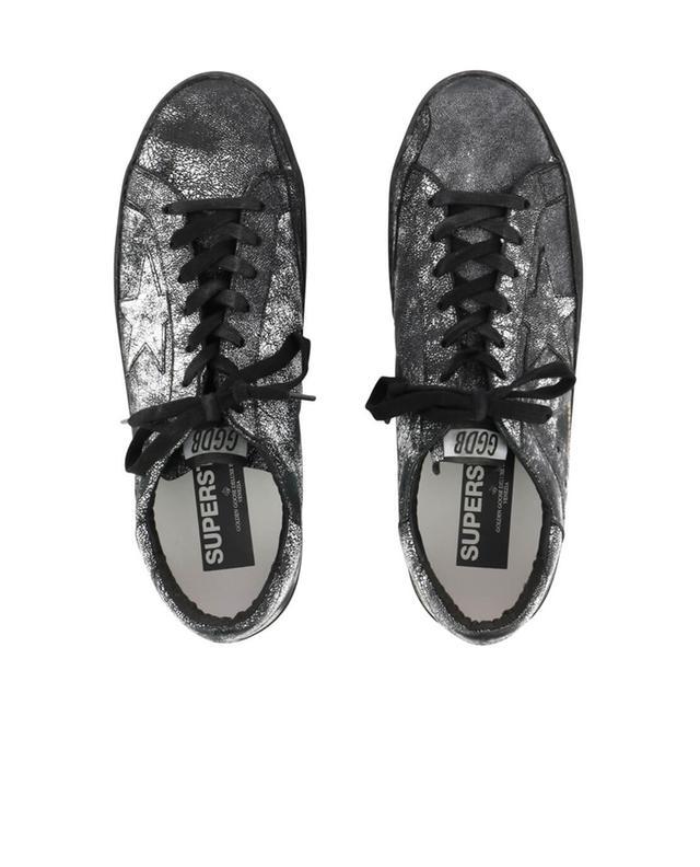 Sneakers aus Leder im Used-Look Superstar GOLDEN GOOSE