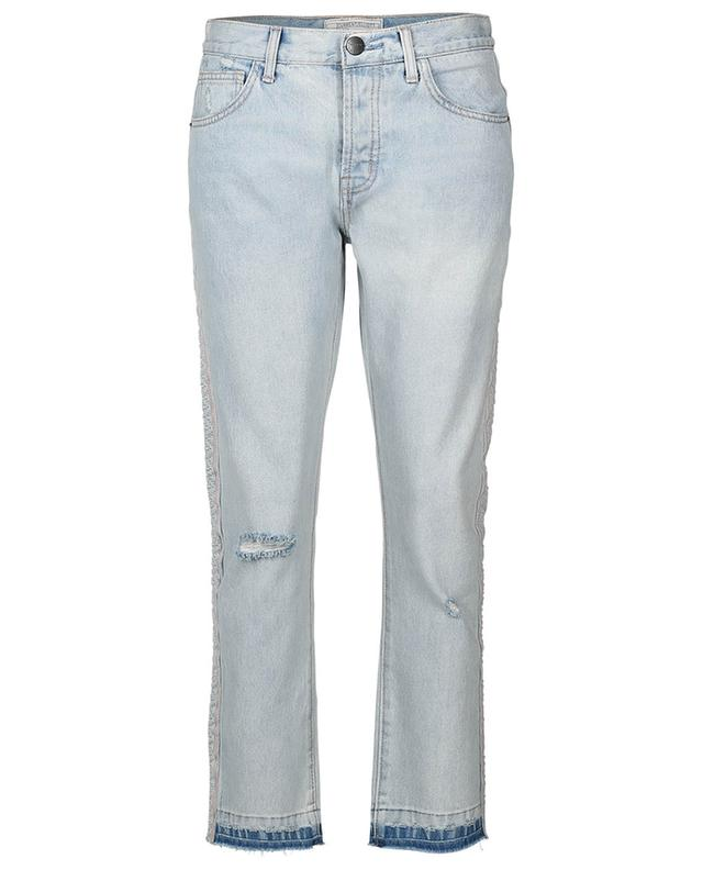 The Slouchy Skinny distressed jeans with side stripes CURRENT ELLIOTT