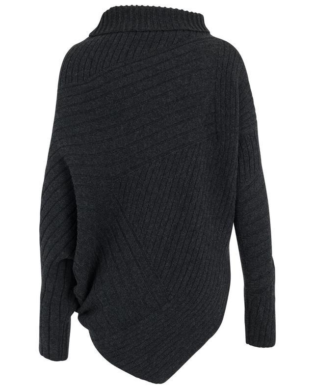 Asymmetric virgin wool knit jumper STELLA MCCARTNEY