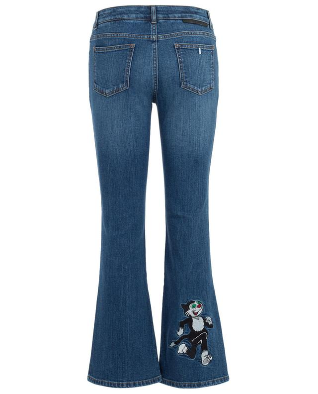 Flared jeans with cat embroidery STELLA MCCARTNEY