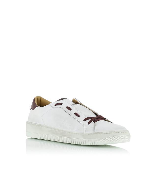 Sneakers aus zweifarbigem Leder ELEVENTY