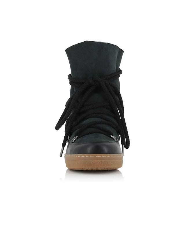 Isabel marant nowles leather wedge sneakers black a38426