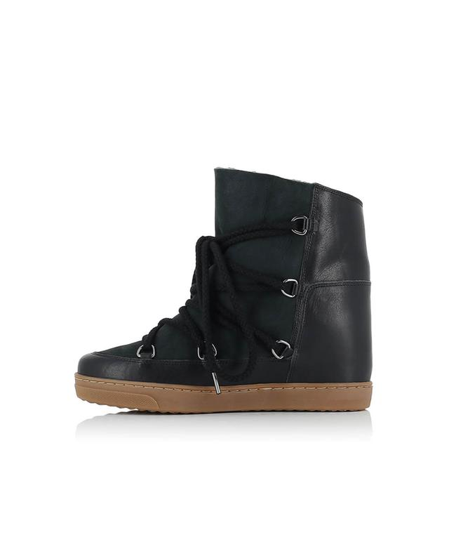 Isabel marant keil sneakers aus leder nowles schwarz a38426