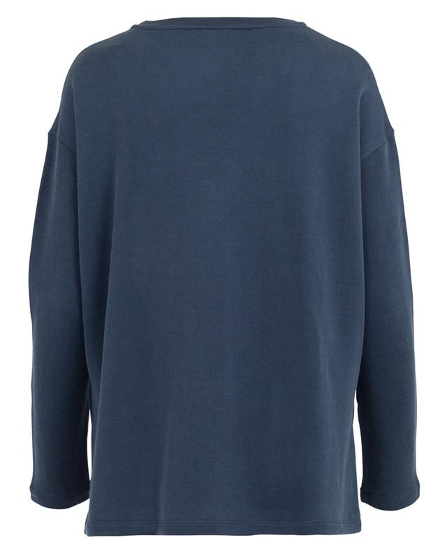 Sweat-shirt en coton et viscose MAJESTIC FILATURES