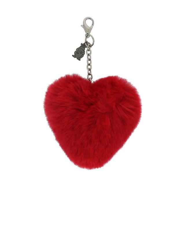 Princess bijoux de sac en fourrure véritable rouge a38615