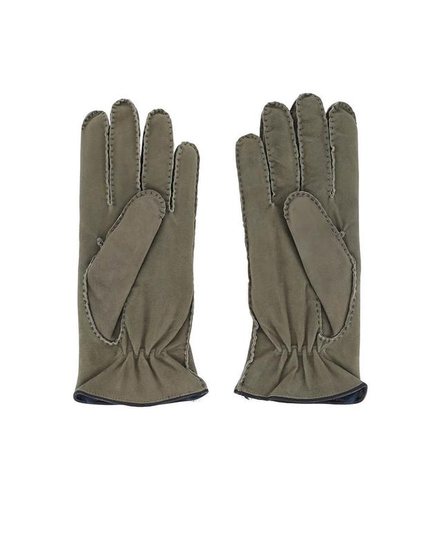 Fur lined suede gloves PIERO RESTELLI