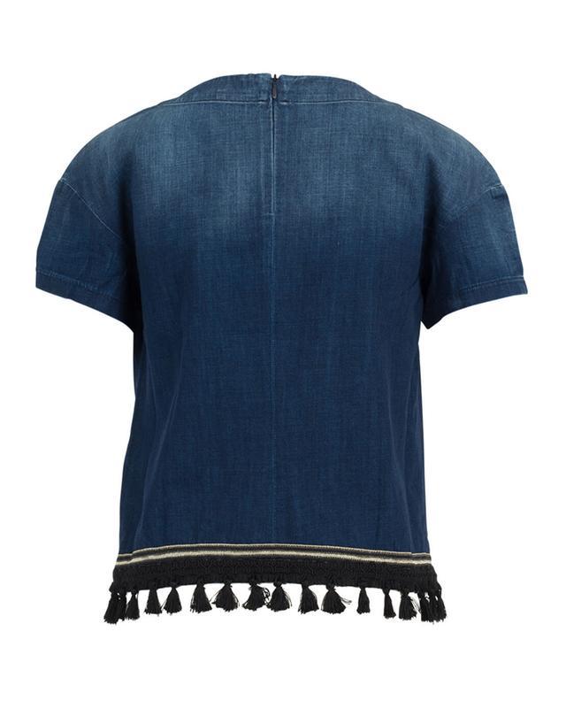 T-Shirt aus Denim 7 FOR ALL MANKIND