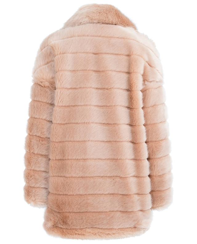 Mid-length faux fur jacket FAKE FUR