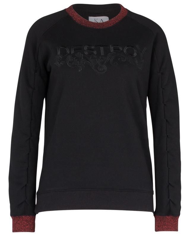DESTROY loose embroidered sweatshirt ZOE KARSSEN