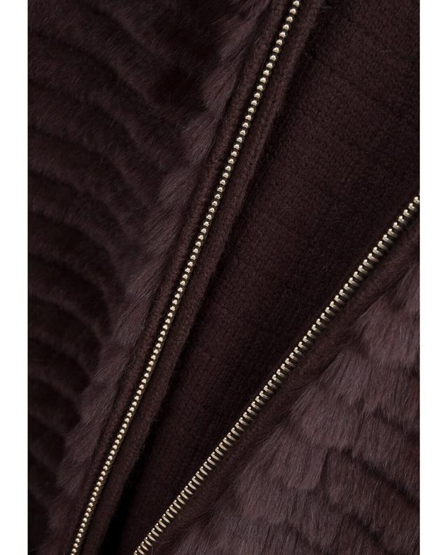 Mid-length rabbit fur jacket YVES SALOMON