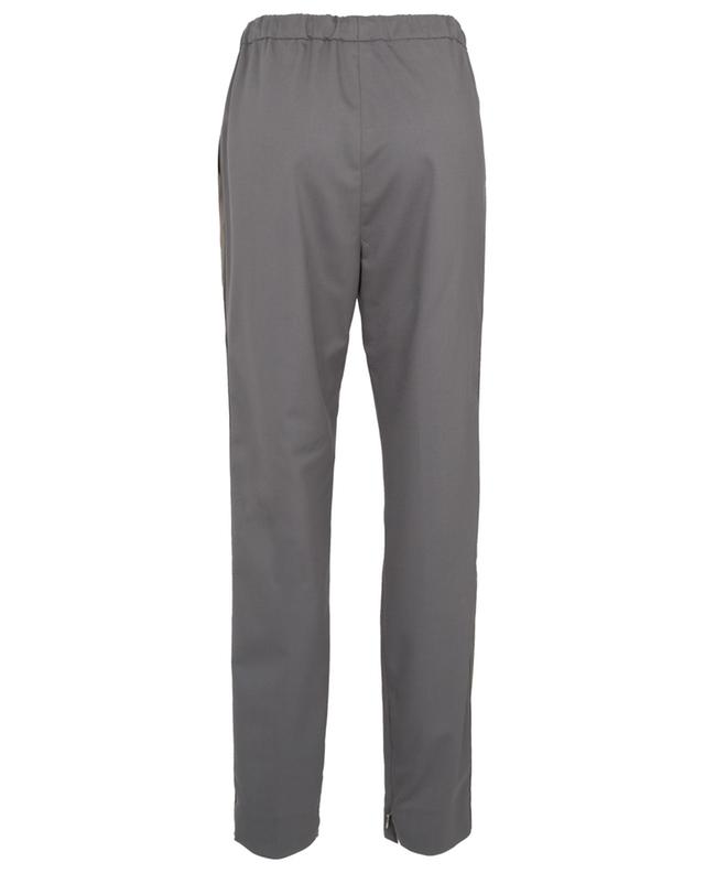 Tapered trousers in wool with suede side stripes FABIANA FILIPPI