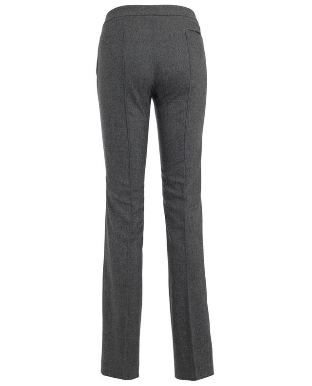 Fabiana filippi virgin wool and cashmere blend trousers grey