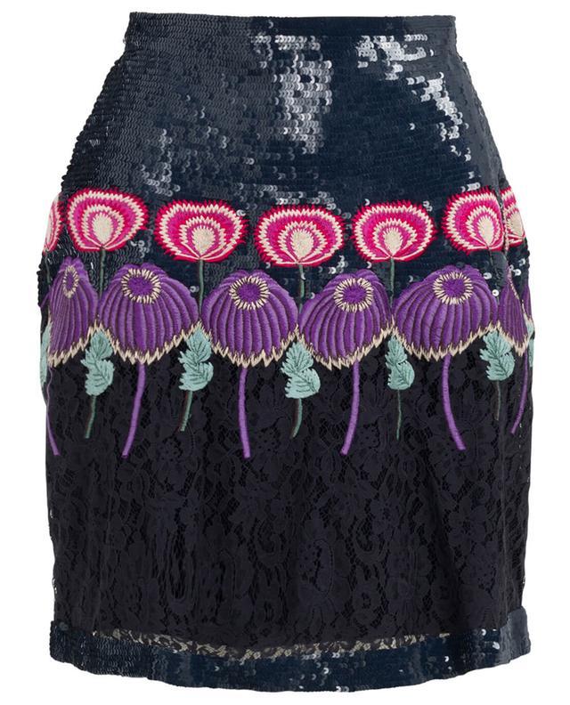 Temperley london farewell short silk skirt black a39762