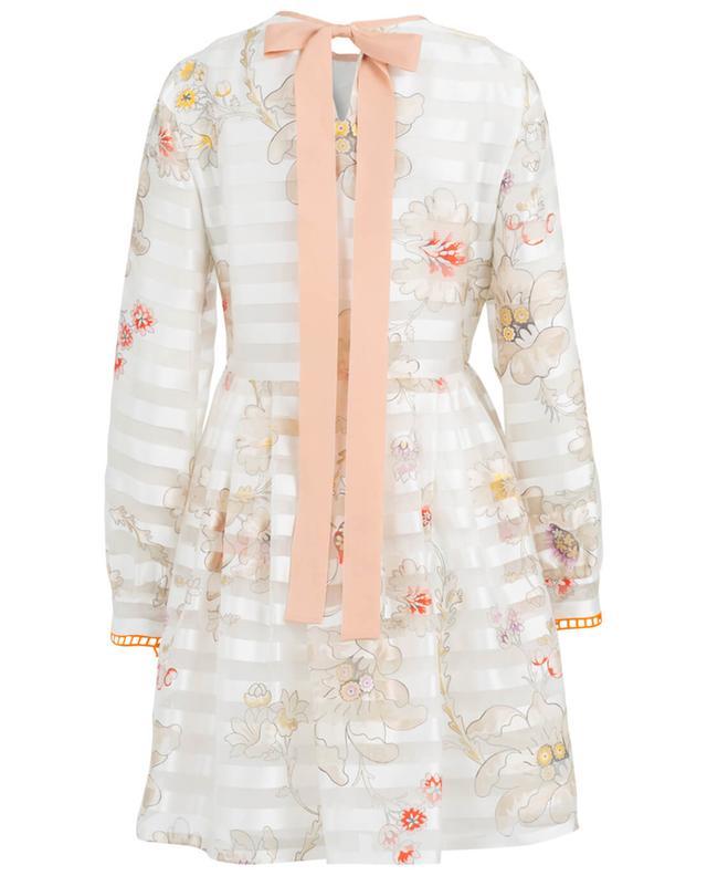 Flower motif silk cocktail dress FENDI