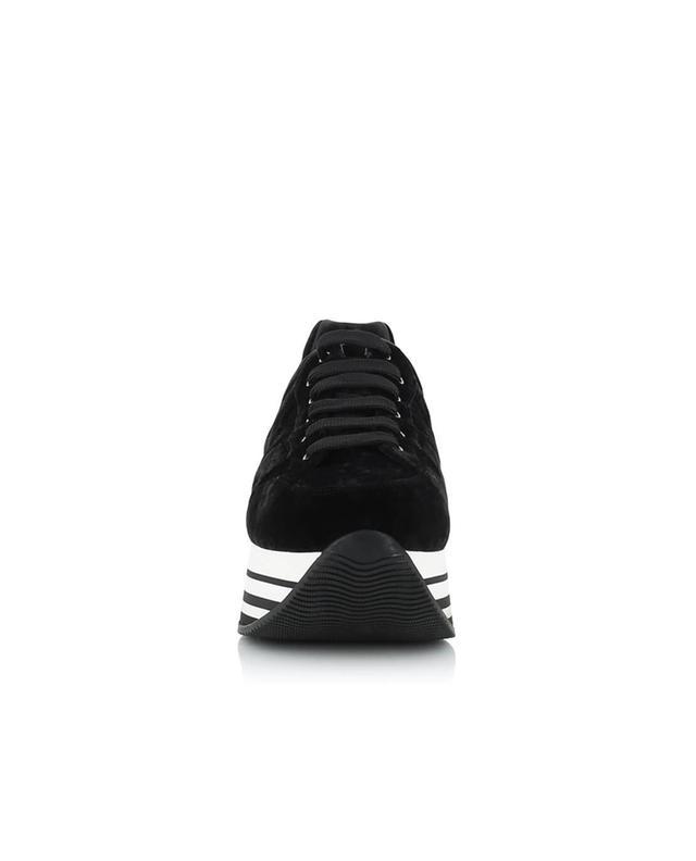 Baskets compensées en velours H283 HOGAN