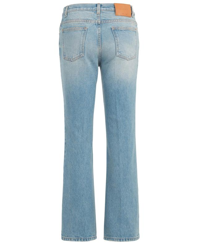 Embroidered flowers jeans GUCCI