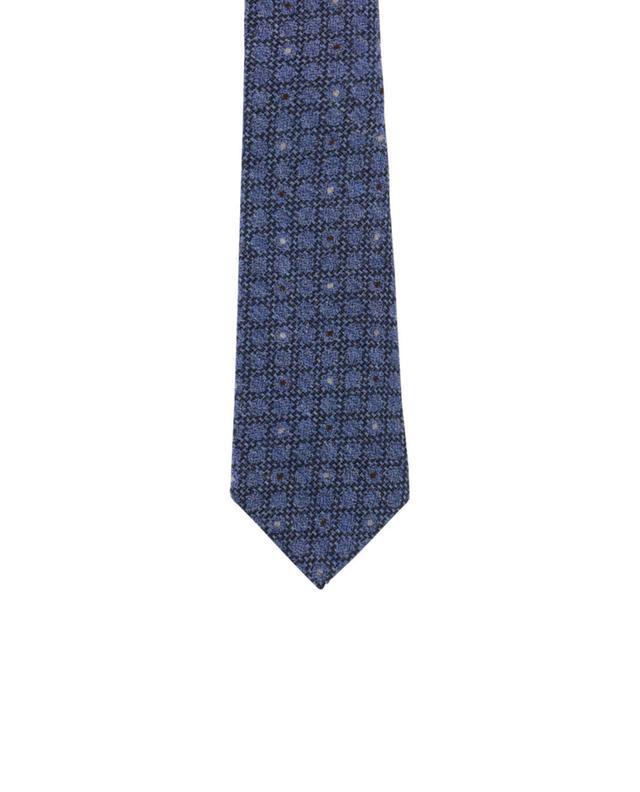Cravate en laine et soie KITON