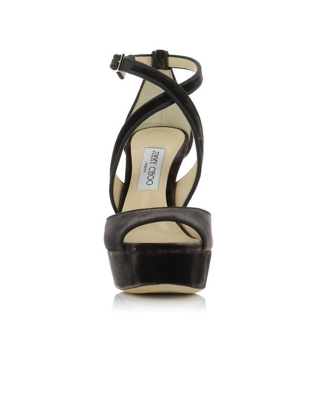 Sandalen aus Samt April JIMMY CHOO