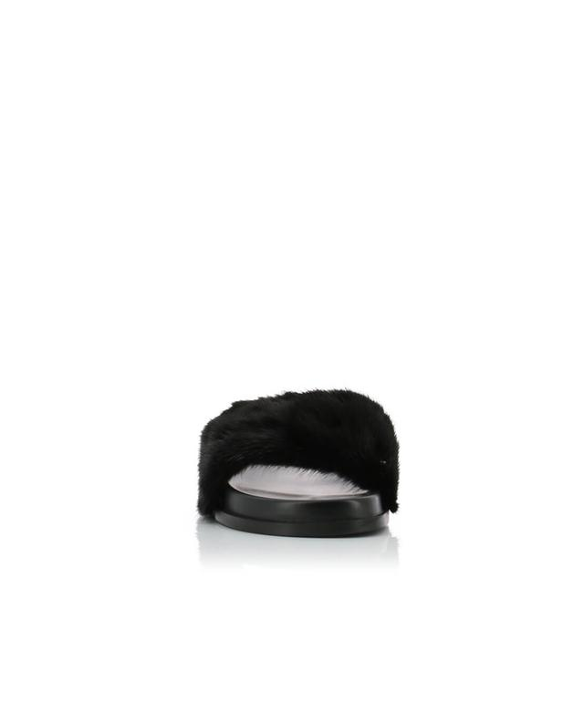 Leather slides with fur VALENTINO